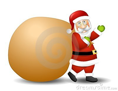 Santa Claus Carrying Toy Sack