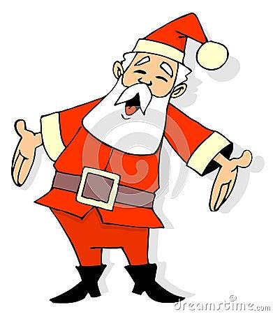 santa claus pictures cartoon. Royalty Free Stock Photo: Santa Claus Cartoon