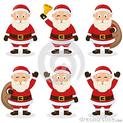 Santa Claus Cartoon Christmas Set