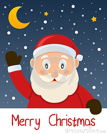 Santa Claus Christmas Greeting Card