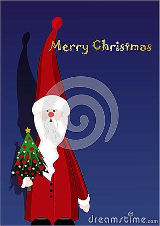 Santa Claus & Christmas tree