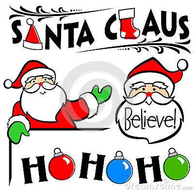 Santa Claus Clip Art Set/eps