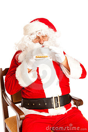 Santa Claus with coffe cup