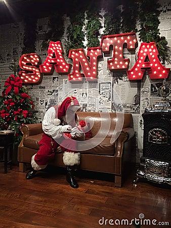 Santa Claus is comin ta town Editorial Stock Photo