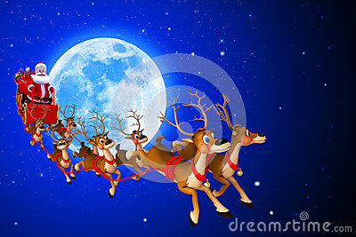 Santa claus is coming from moon
