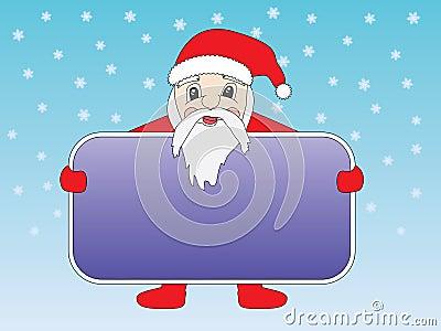 Santa Claus with congratulation card
