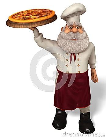 Free Santa Claus Cook 3D Illustration In Cartoon Stule Isolated On White Stock Photo - 81747240