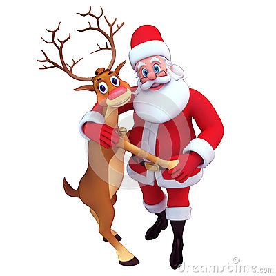 Santa Claus Dancing Reindeer