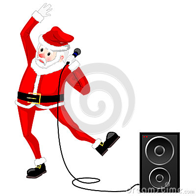 Santa Claus dancing vector