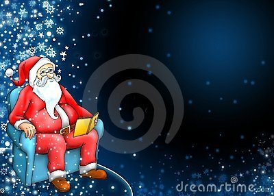 Santa claus with dark blue background