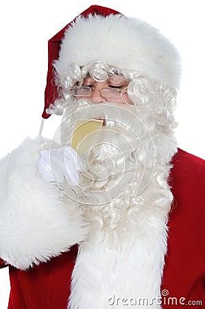 Santa Claus drinking