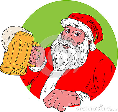 Santa Claus Drinking Beer Stock Illustrations – 15 Santa Claus ...