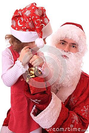 Santa Claus and dwarf