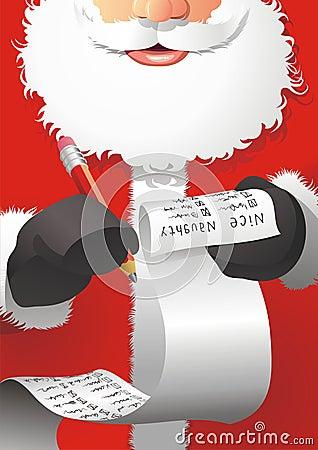 Santa Claus edit the list
