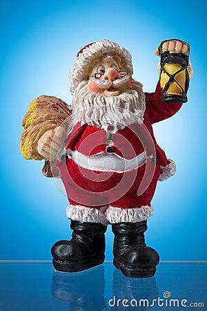 Santa claus figure, mysticism Christmas.