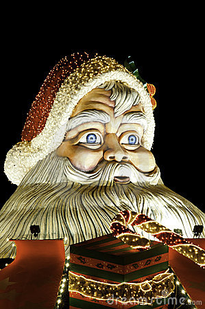 Santa claus figure. Outdoor