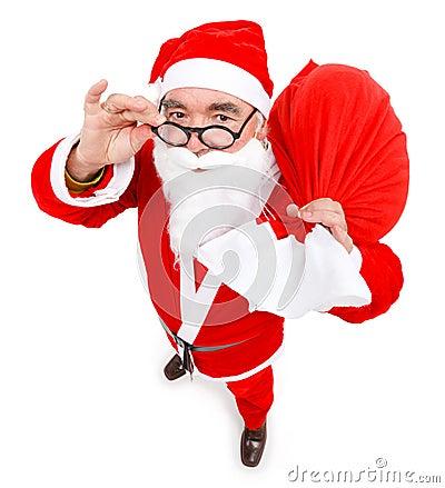 Santa claus with full bag