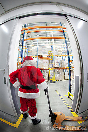 Santa Claus & the gate to gift distribution center