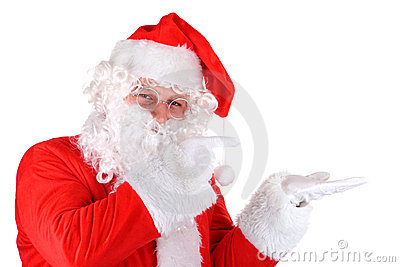 Santa Claus gesturing