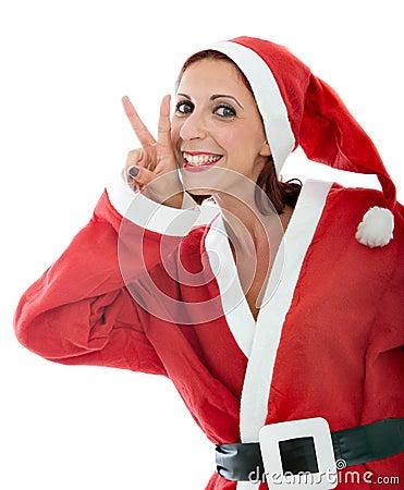 Santa claus gesturing win