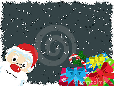 Santa Claus and gift Christmas Card 2