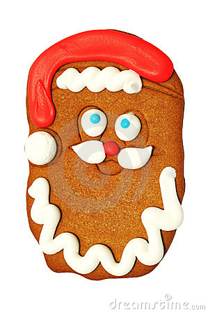 Santa Claus gingerbread cookie