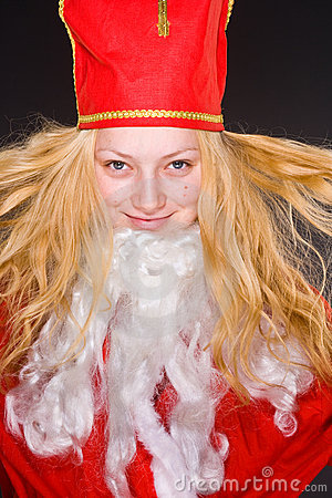 Santa Claus Girl with beard