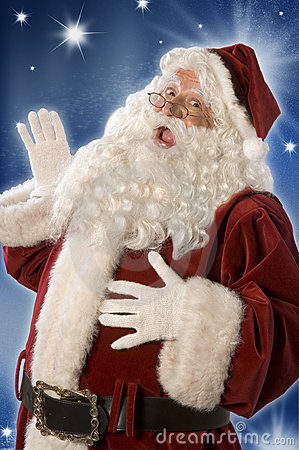Free Santa Claus Greeting Royalty Free Stock Images - 9710939