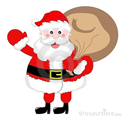 Free Santa Claus Greeting With Sack Stock Images - 20800784
