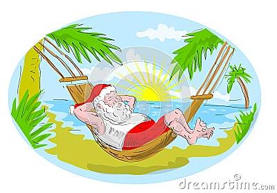 Santa claus hammock beach