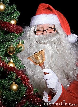 Santa Claus with handbell