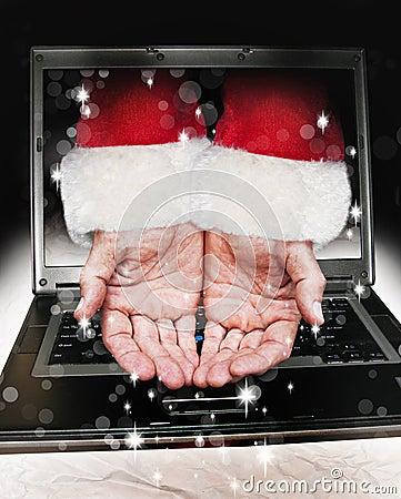 Santa Claus hands