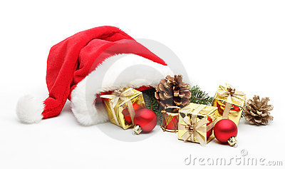 Santa Claus hat with gifts