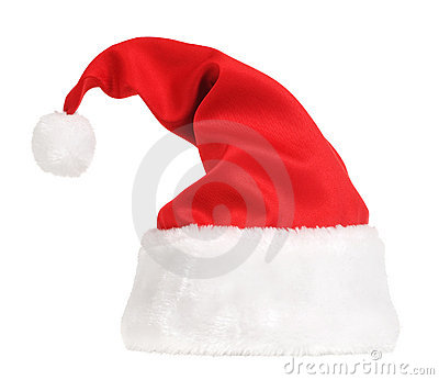 Santa Claus hat on white