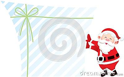 Santa claus and his gift