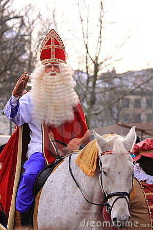 Santa claus on his horse Editorial Stock Photo