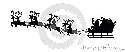 Santa claus and his sledge