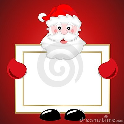 Free Santa Claus Holding Blank Banner Christmas Sign Royalty Free Stock Photo - 21771875