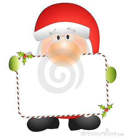 Santa Claus Holding Card 2