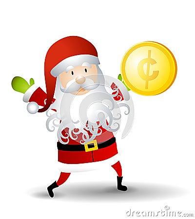 Santa Claus Holding Penny