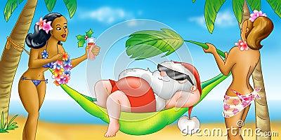 Santa Claus  holiday - Hawaii