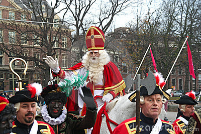 Santa Claus in Holland Editorial Stock Photo
