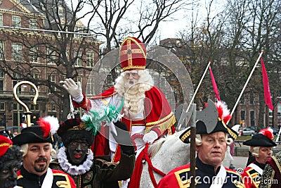 Santa Claus in Holland Editorial Stock Photo