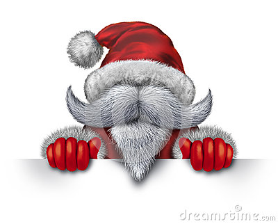 Santa Claus Horizontal Sign