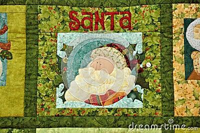 Santa Claus image on cloth decoration