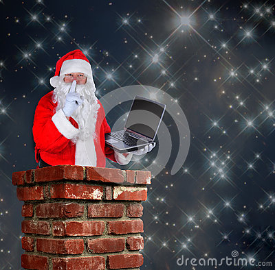 Free Santa Claus In Chimney Royalty Free Stock Photography - 43115987