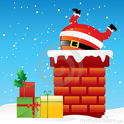 Free Santa Claus In The Chimney Stock Image - 7024571