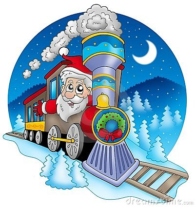 Free Santa Claus In Train Royalty Free Stock Photos - 11315278