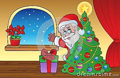 Santa Claus indoor scene 2