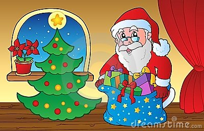 Santa Claus indoor scene 3